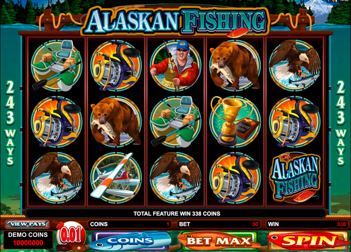 alaskan fishing microgaming online slots