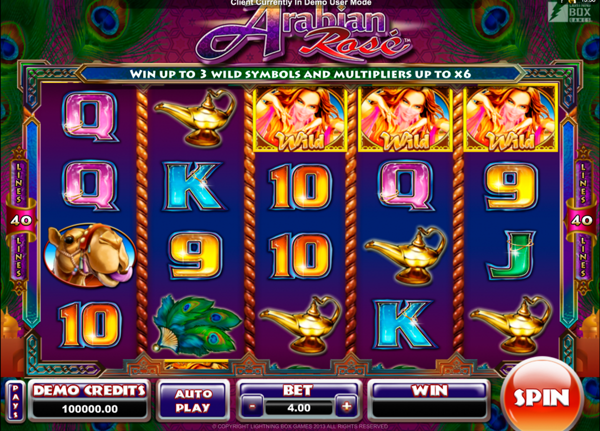 arabian rose microgaming online slots