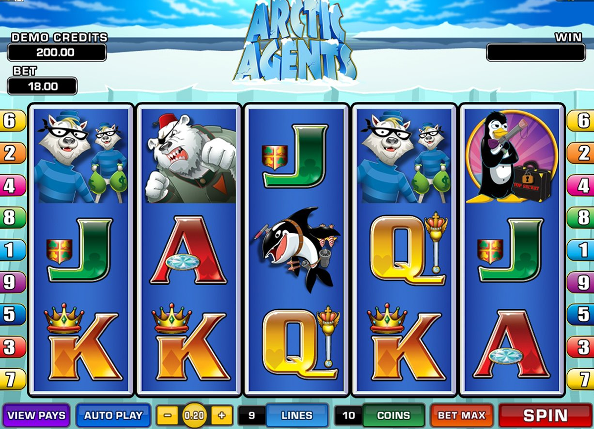 arctic agents microgaming online slots