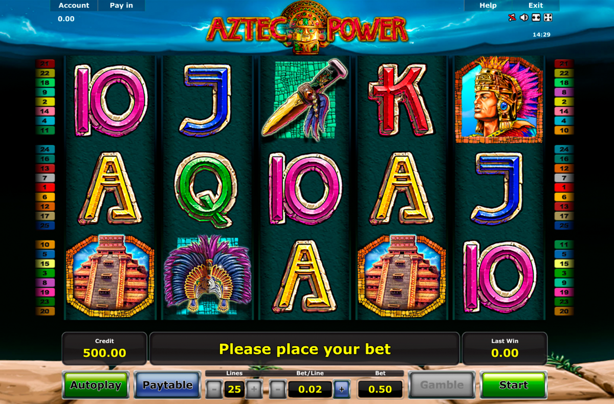 aztec power novomatic online slots