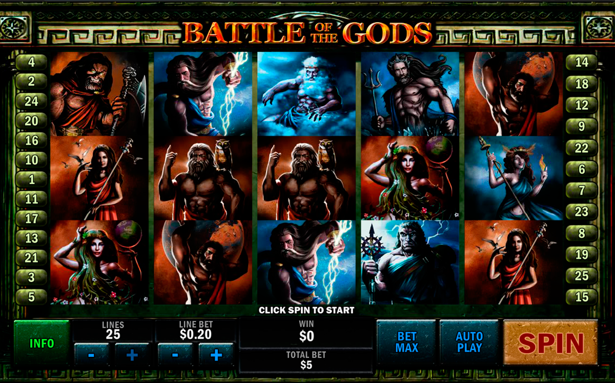 battle of the gods playtech online slots