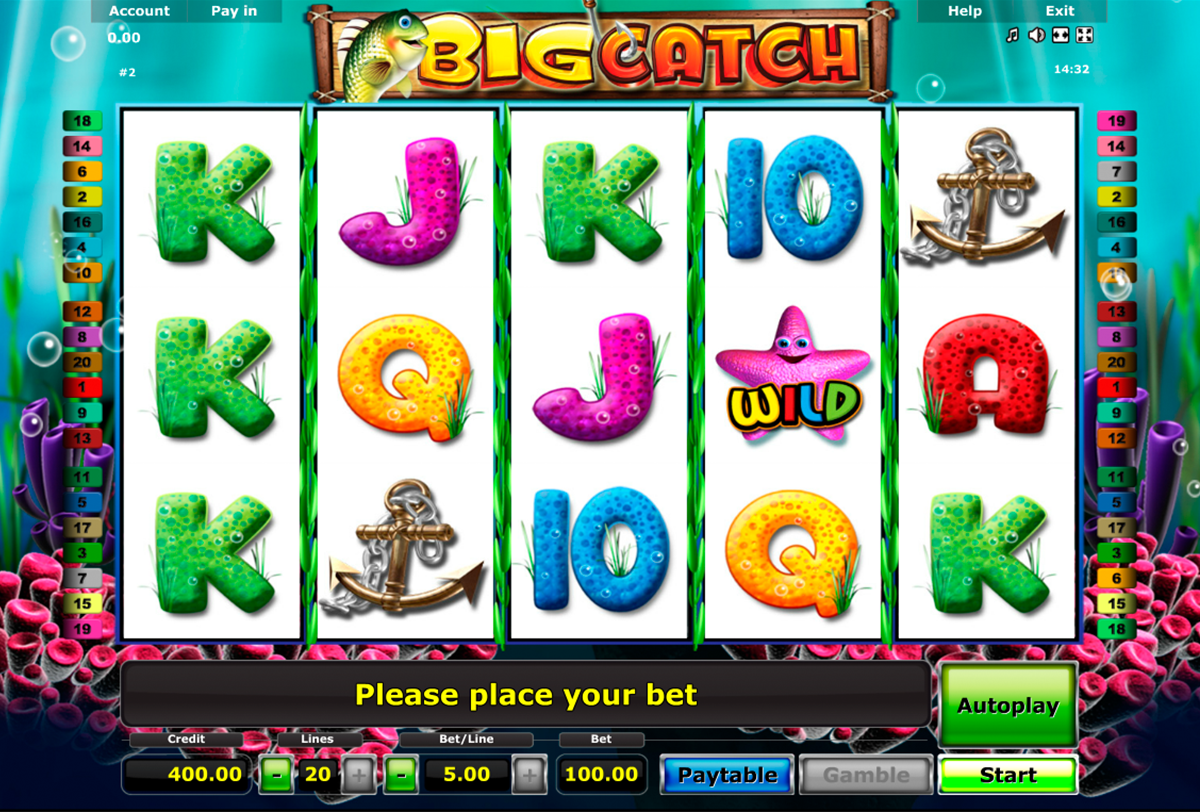 Big Catch™ Slot Machine Game to Play Free in Novomatics Online Casinos