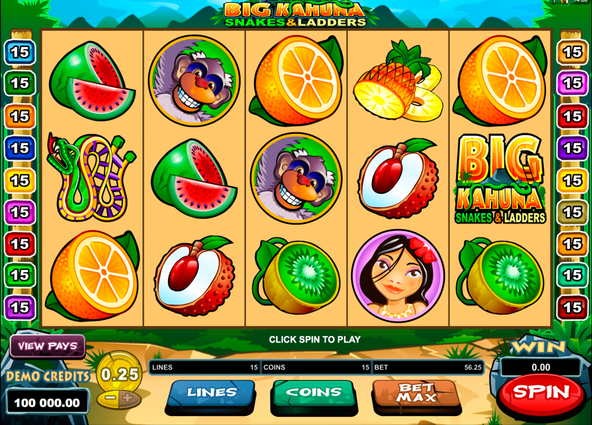 big kahuna snakes and ladders microgaming online slots