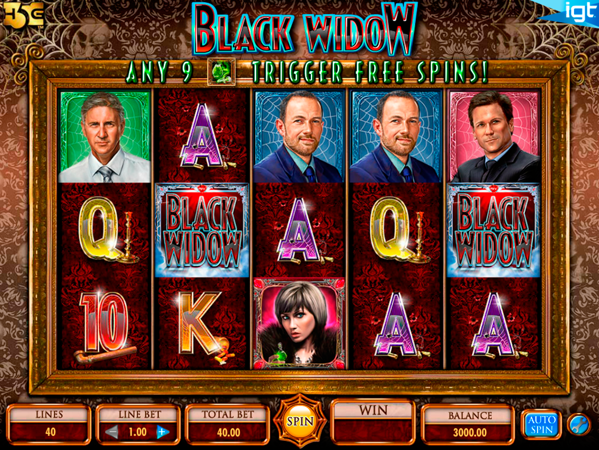 black widow igt online slots