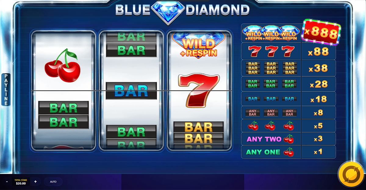 blue diamond red tiger online slots