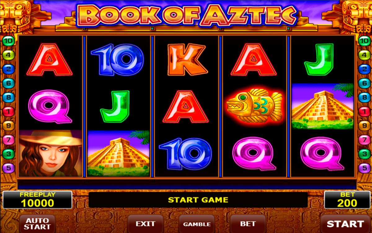 book of aztec amatic online slots
