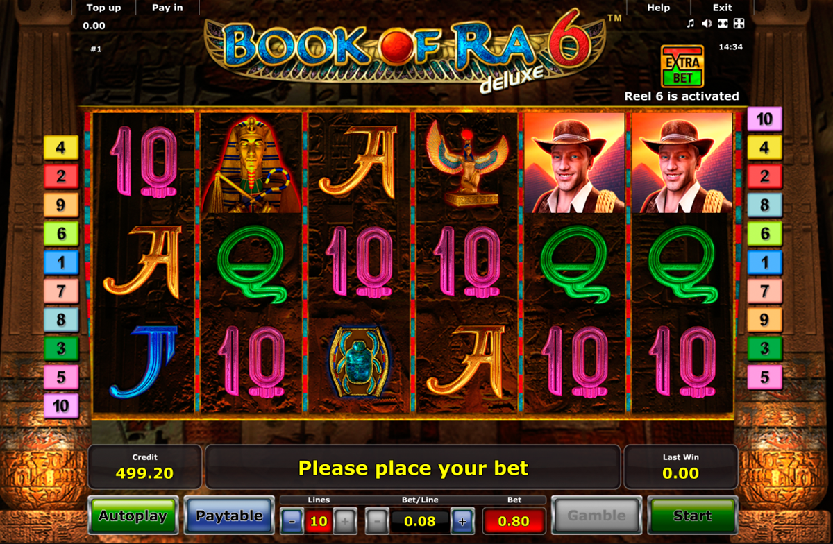 casino games free book of ra