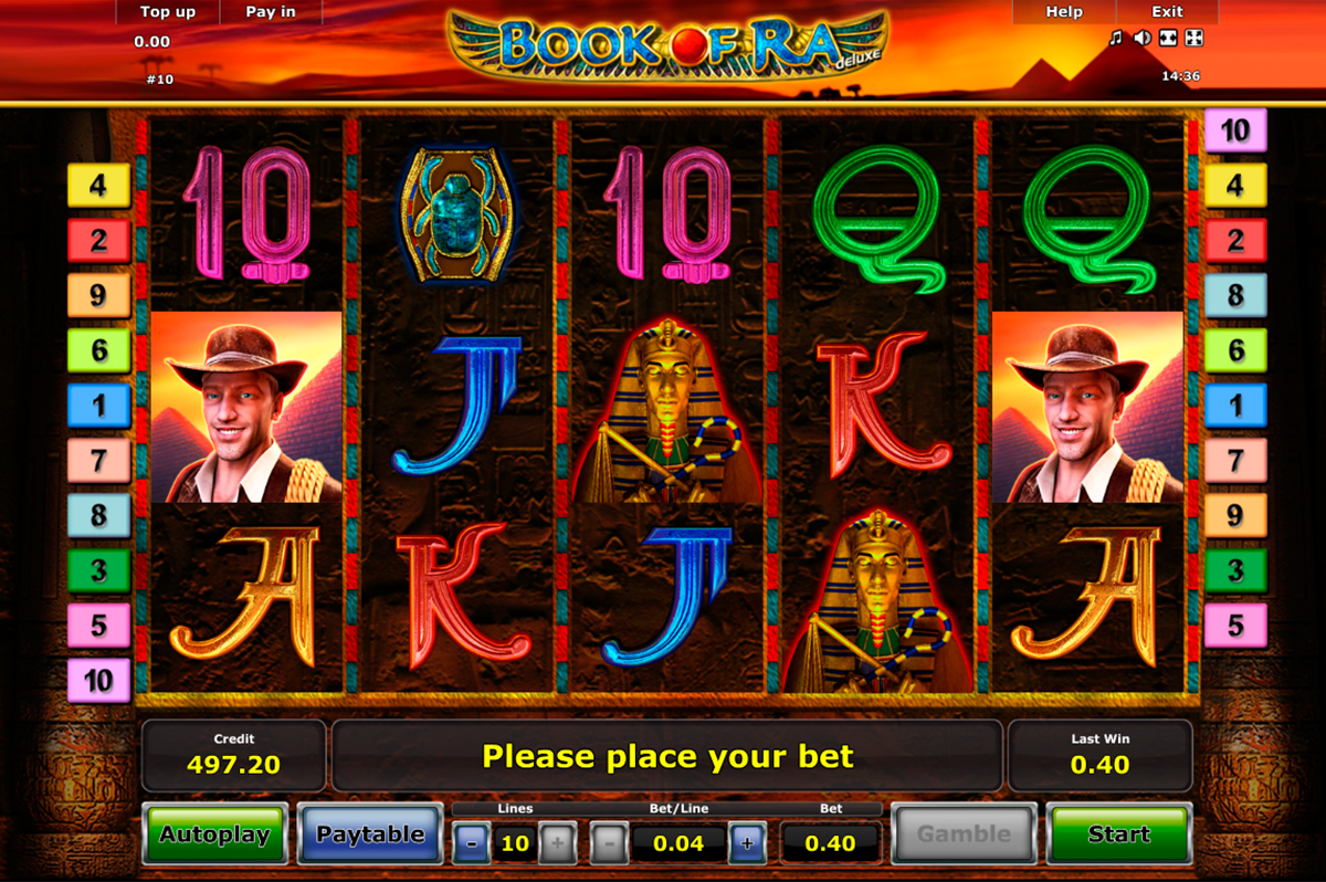 novomatic deluxe coldfire book of ra slot