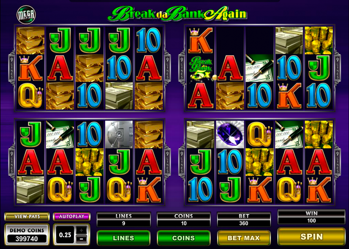 break da bank again megaspin microgaming online slots