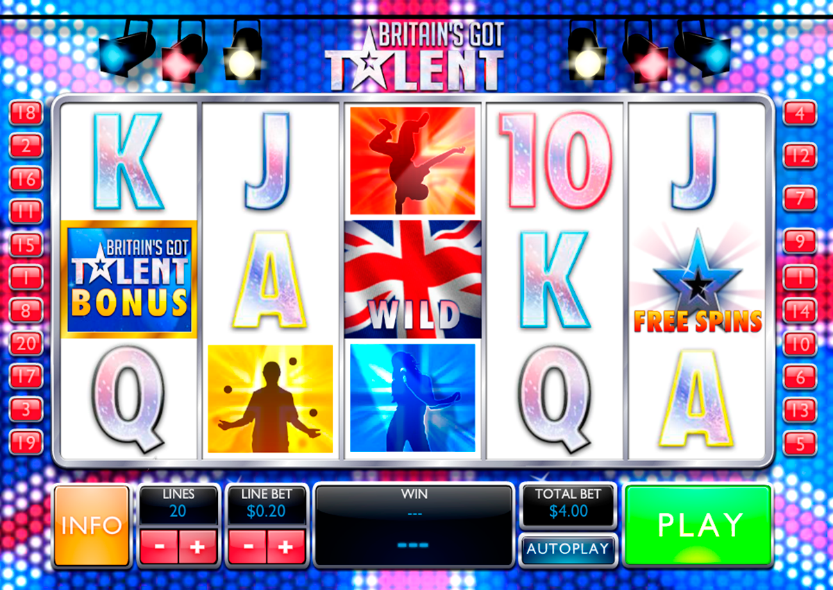 britains got talent playtech online slots