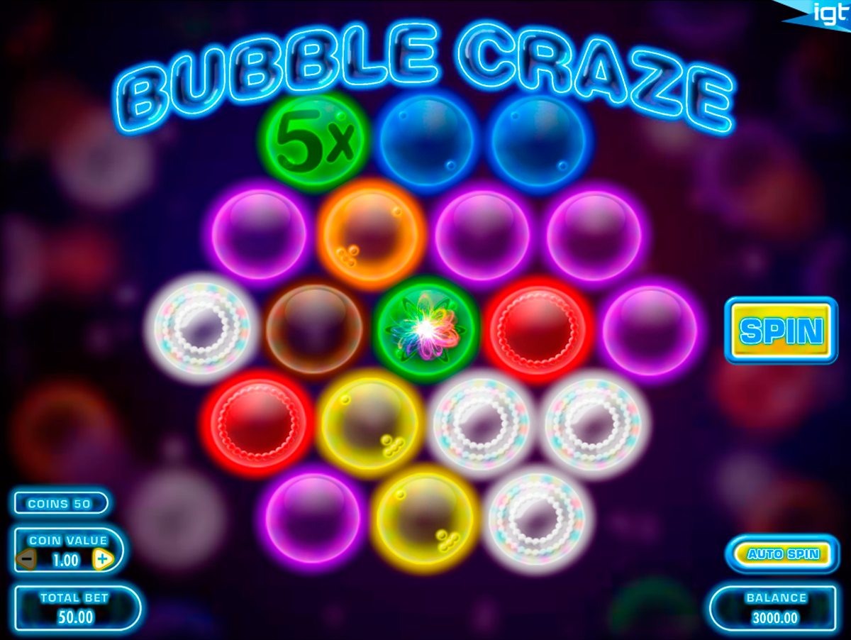 bubble craze igt online slots