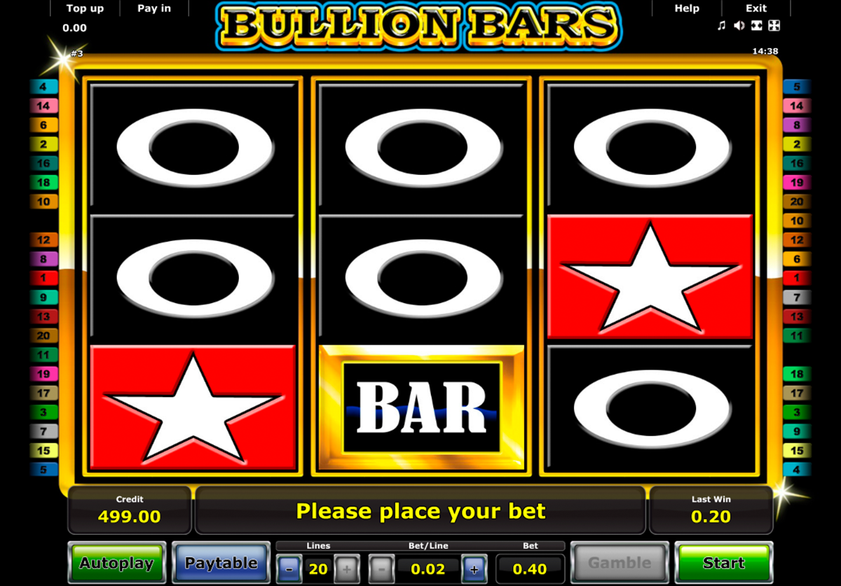 bullion bars novomatic online slots