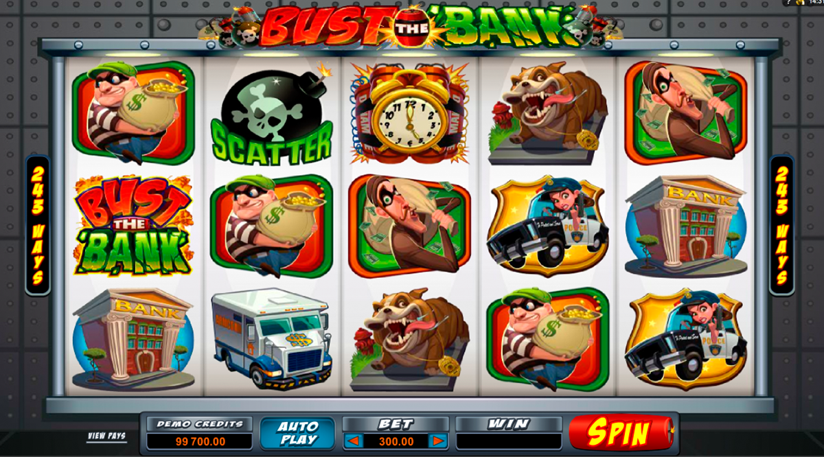 bust the bank microgaming online slots
