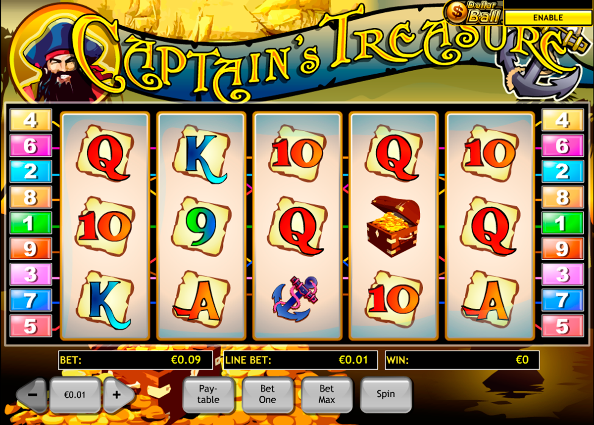 captains treasure playtech online slots
