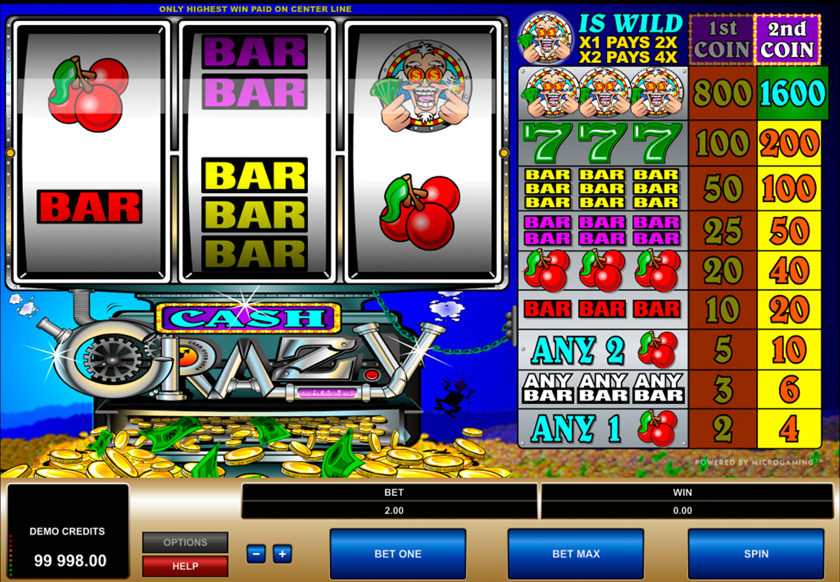 cash crazy microgaming online slots