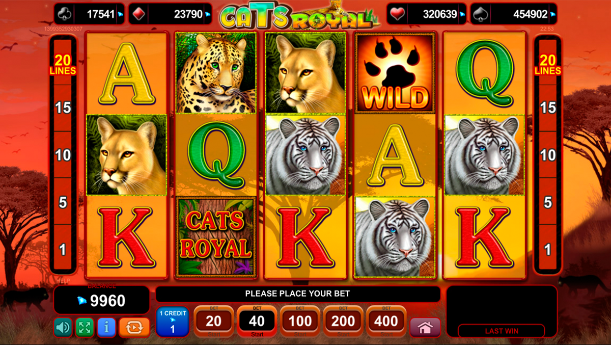 cats royal egt online slots