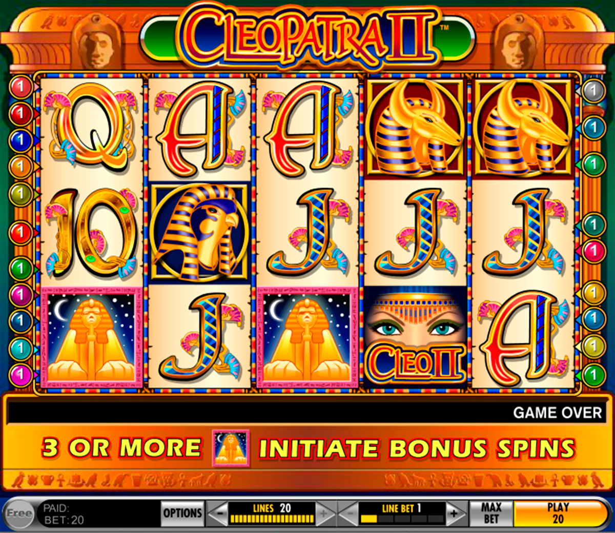 Play cleopatra 2 slot free online