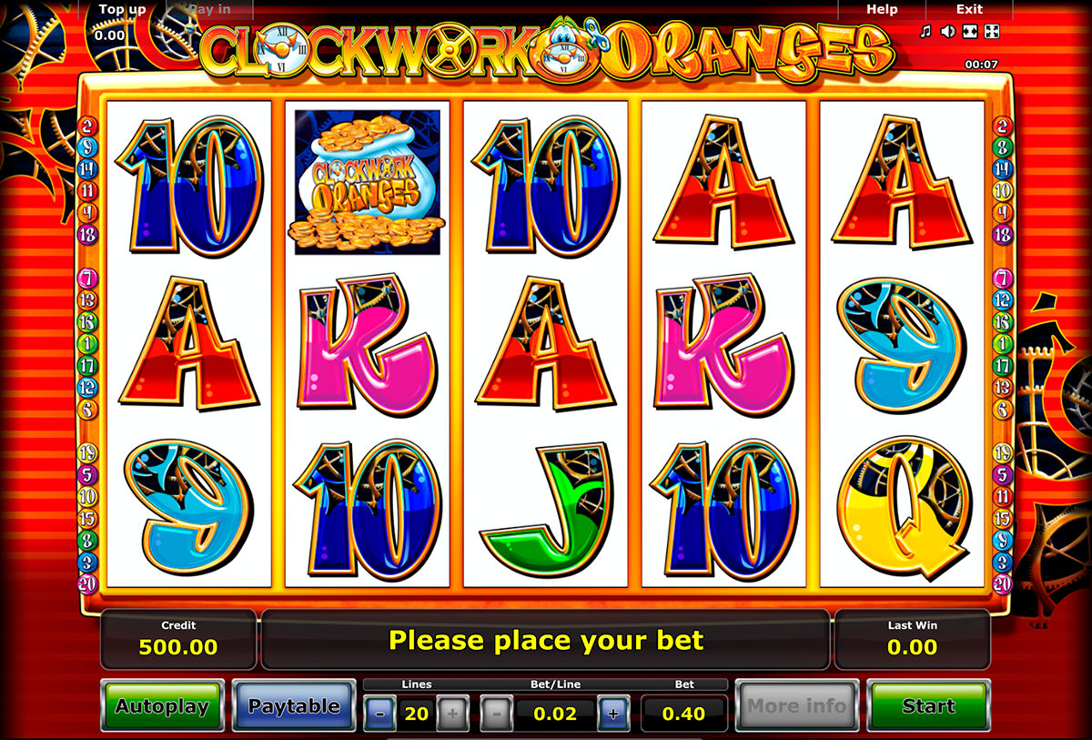 clockwork oranges novomatic online slots
