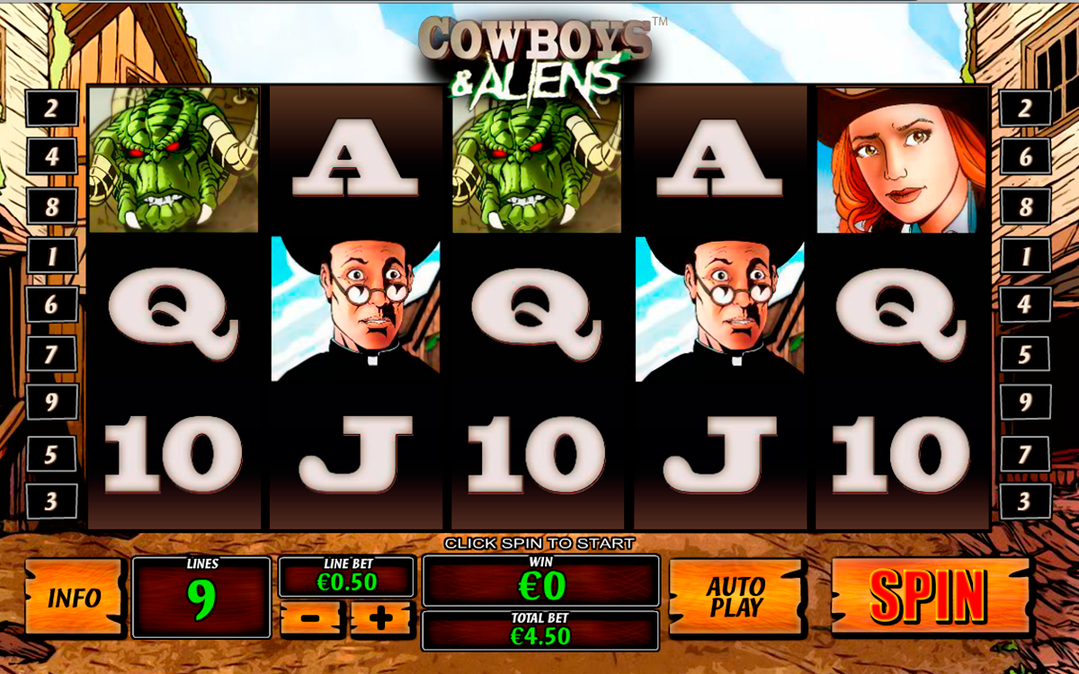 cowboys and aliens playtech online slots