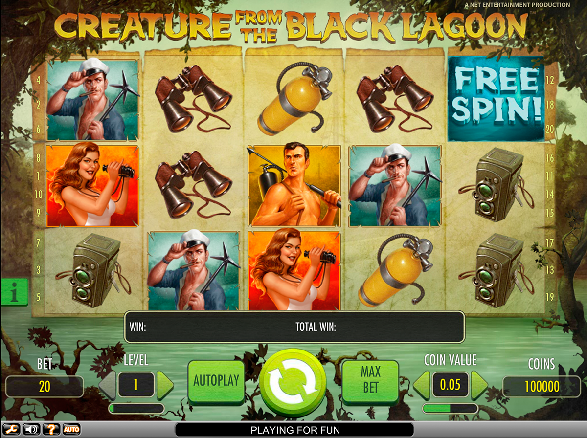 creature from the black lagoon netent online slots