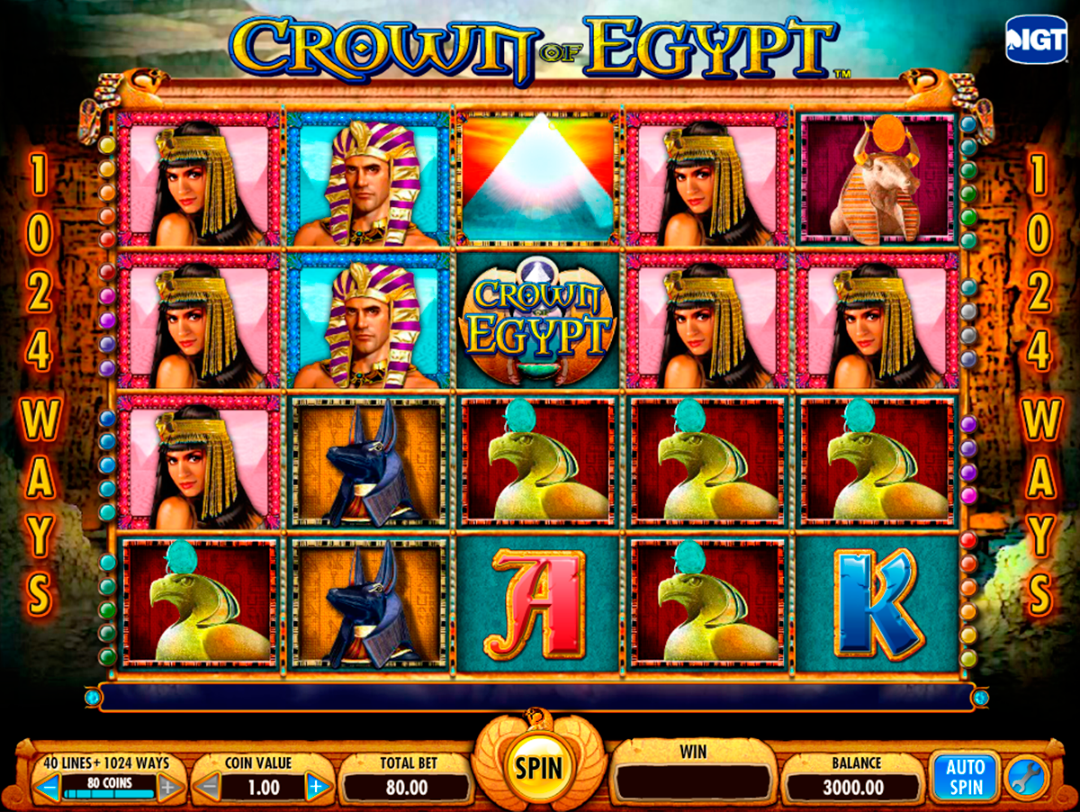 crown of egypt igt online slots