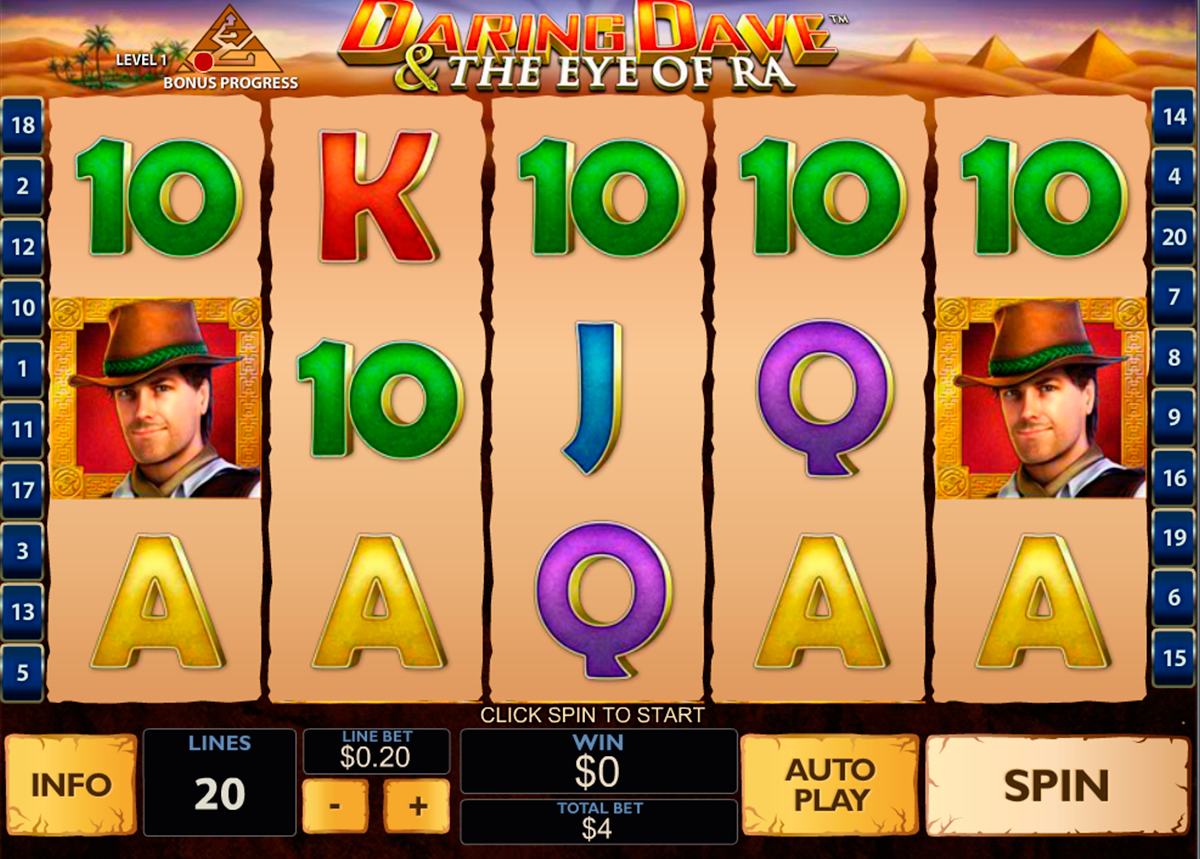 daring dave the eye of ra playtech online slots