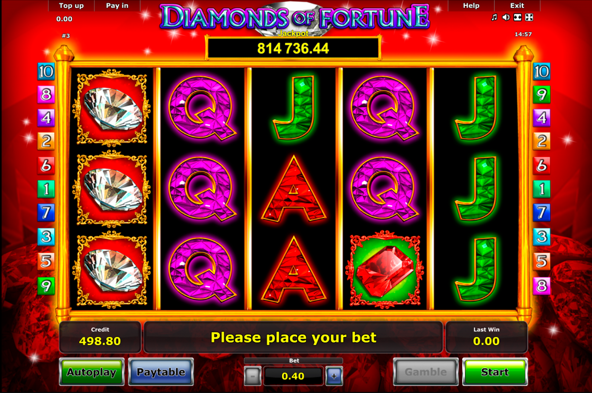 diamonds of fortune novomatic online slots