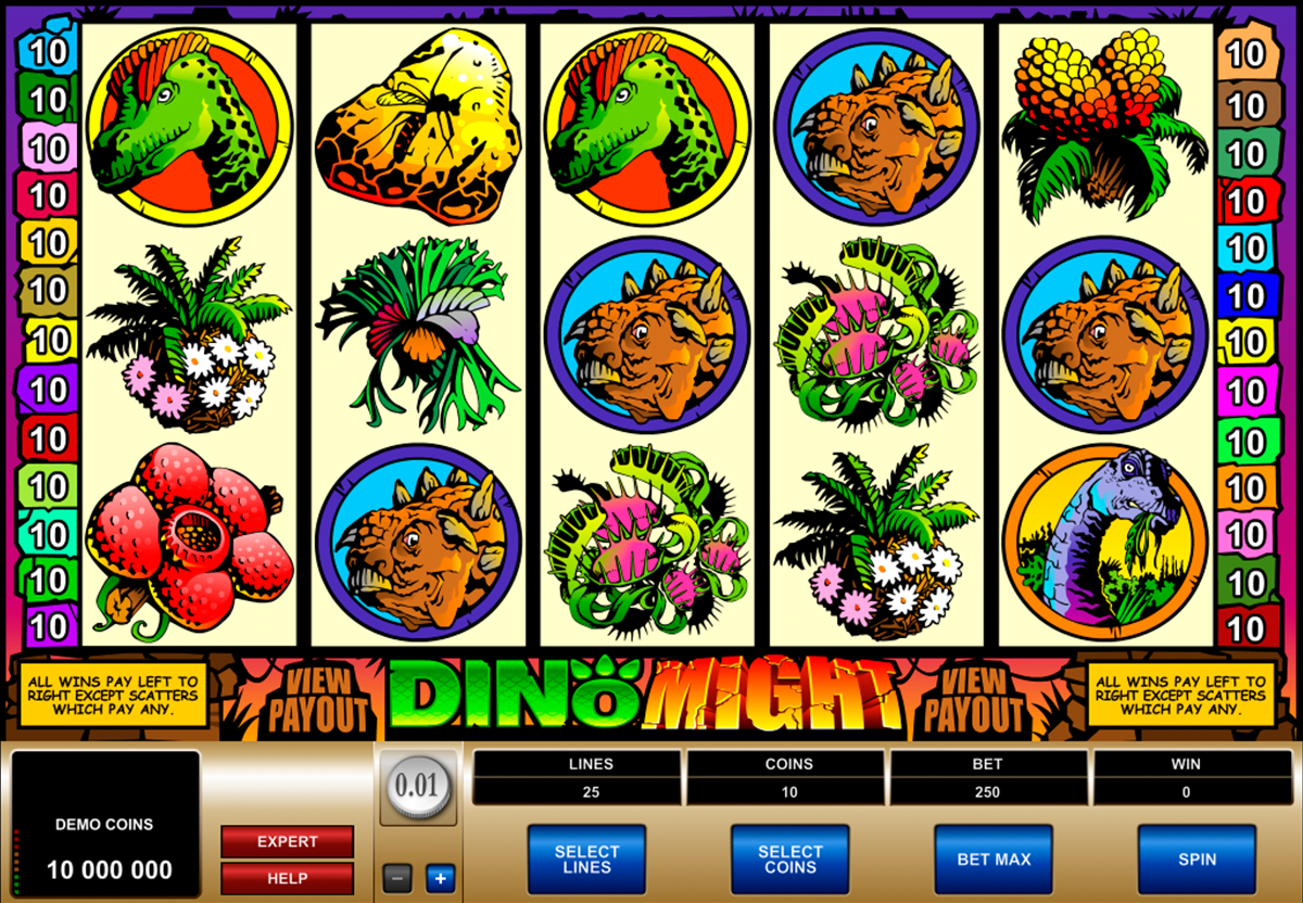 dino might microgaming online slots