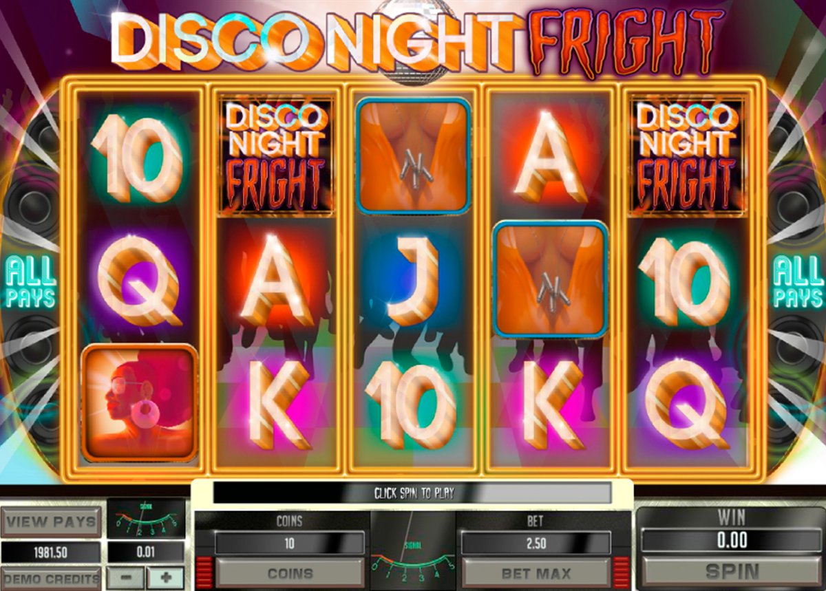 Disco Night Fright Slot - Play for Free & Win for Real