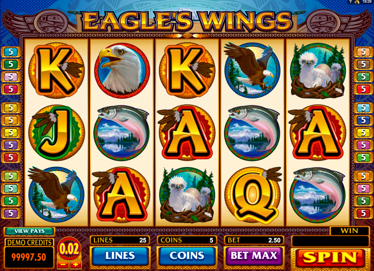 eagles wings microgaming online slots