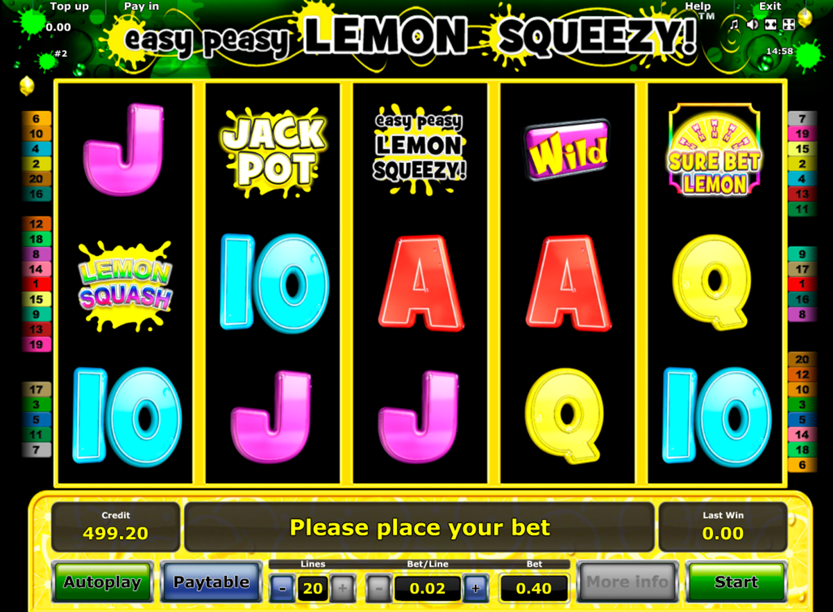 easy peasy lemon squeezy novomatic online slots