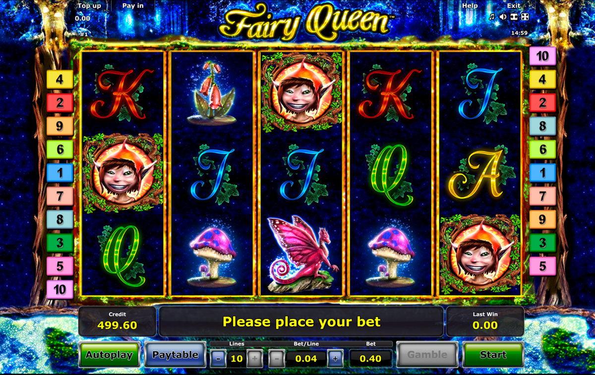 fairy queen novomatic online slots