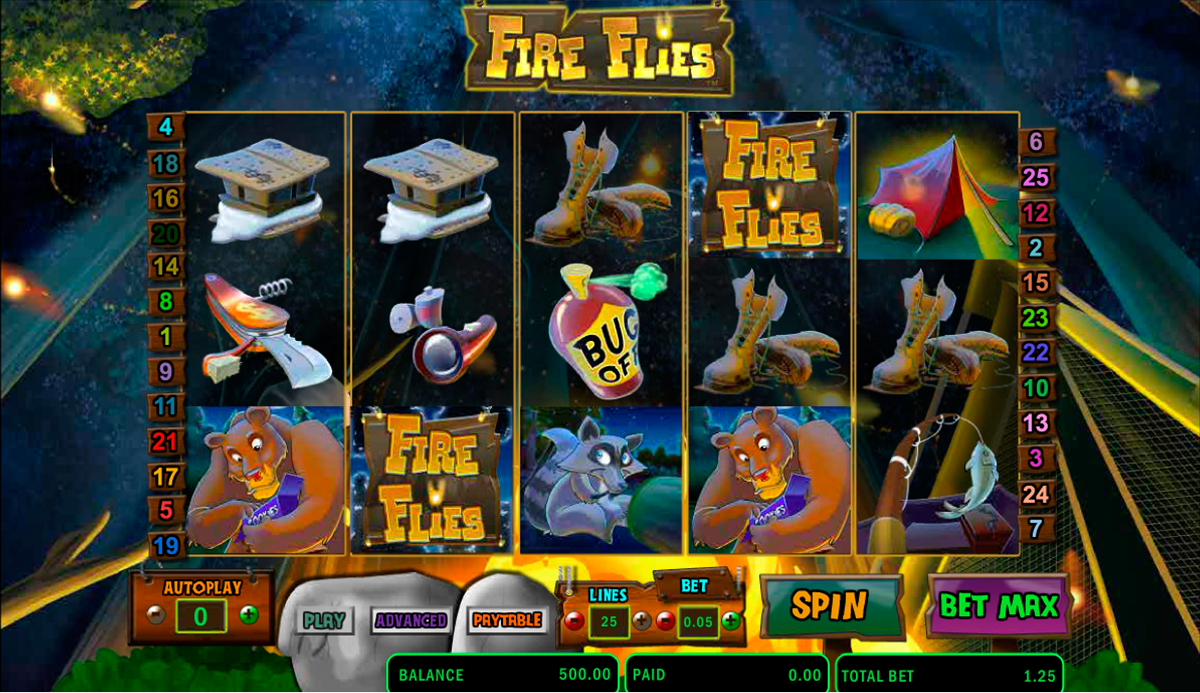 fire flies amaya online slots