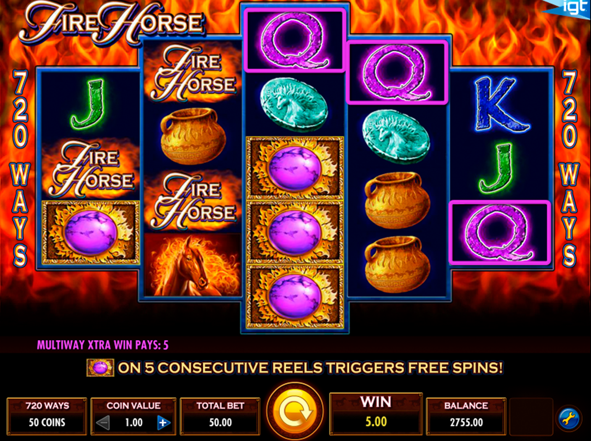 fire horse igt online slots