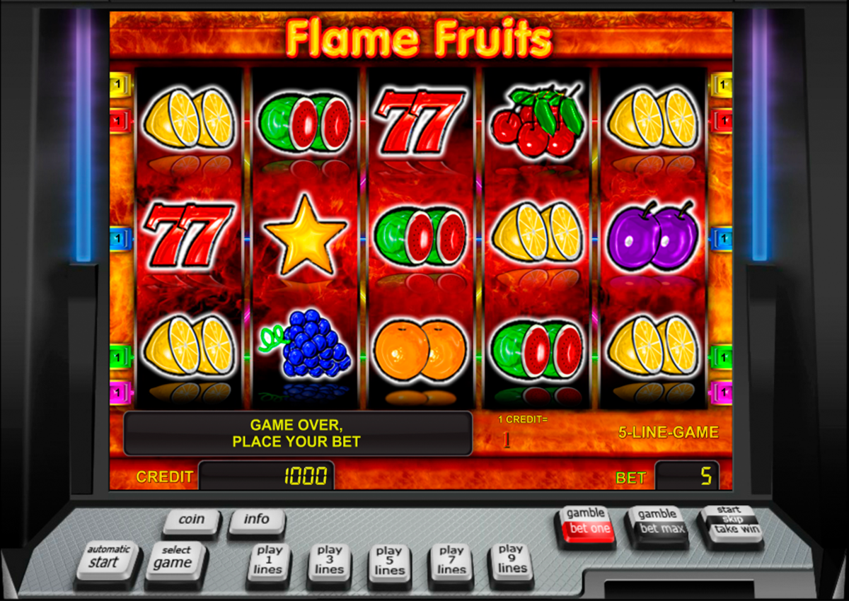 flame fruits novomatic online slots
