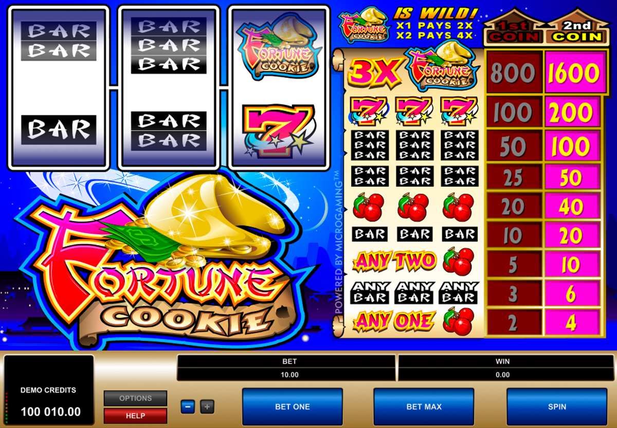 fortune cookie microgaming online slots
