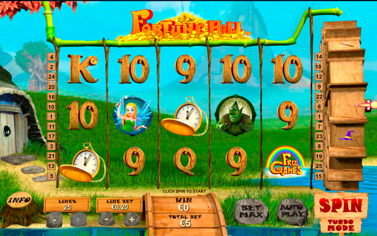 fortune hill playtech online slots