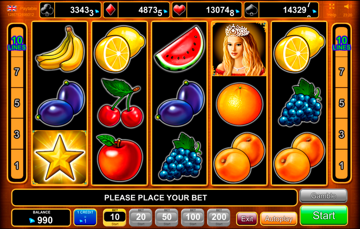 fruits kingdom egt online slots