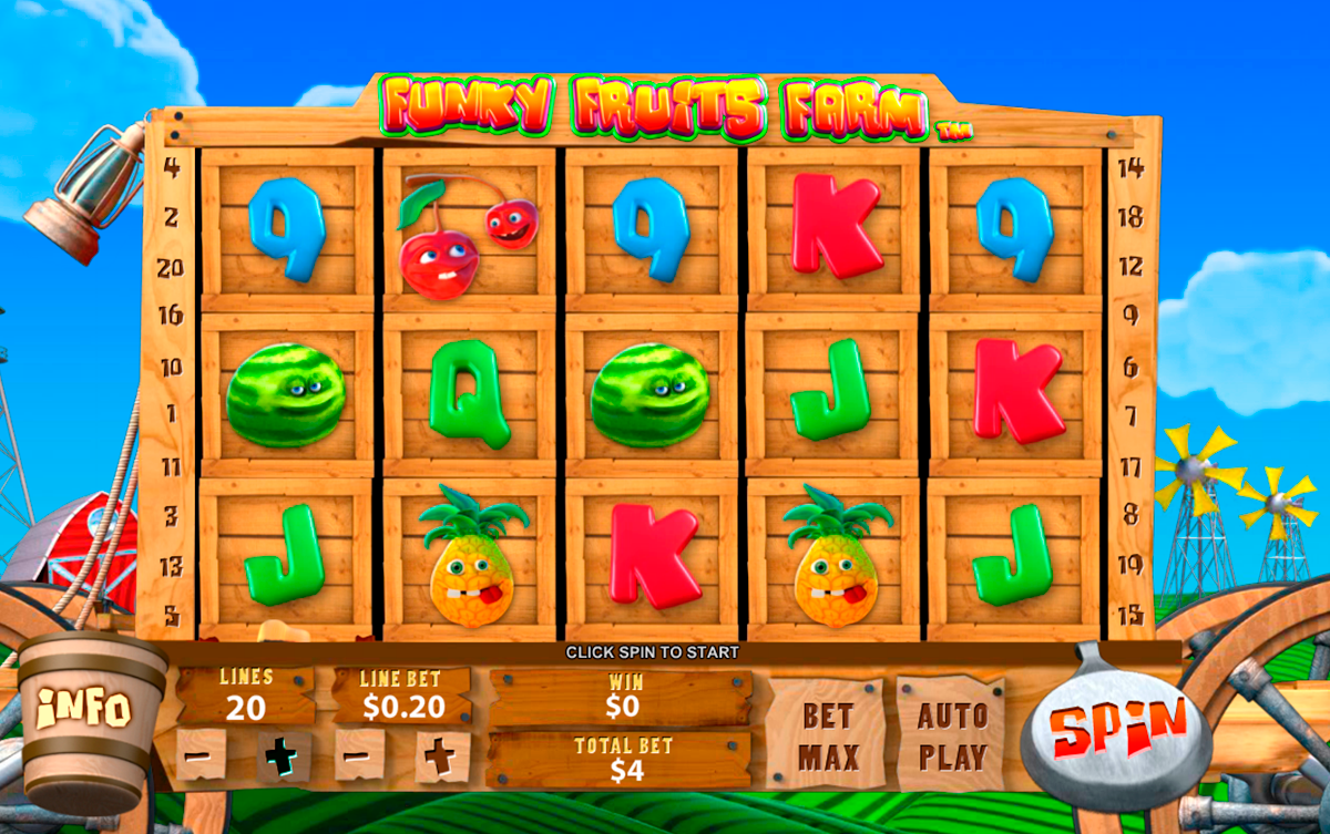funky fruits farm playtech online slots