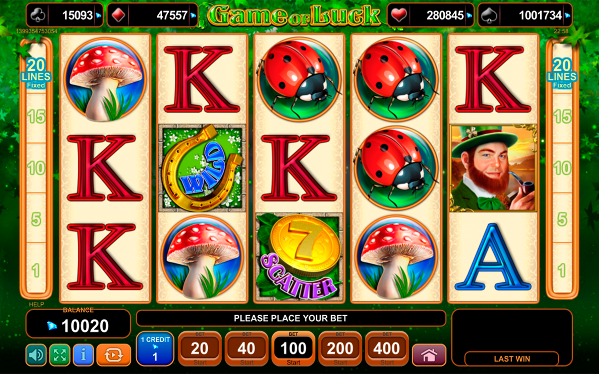 game of luck egt online slots