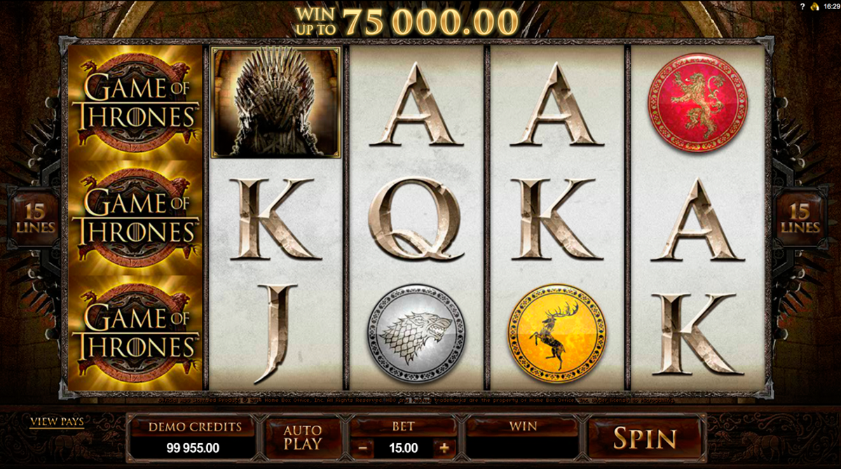 game of thrones 15 lines microgaming online slots