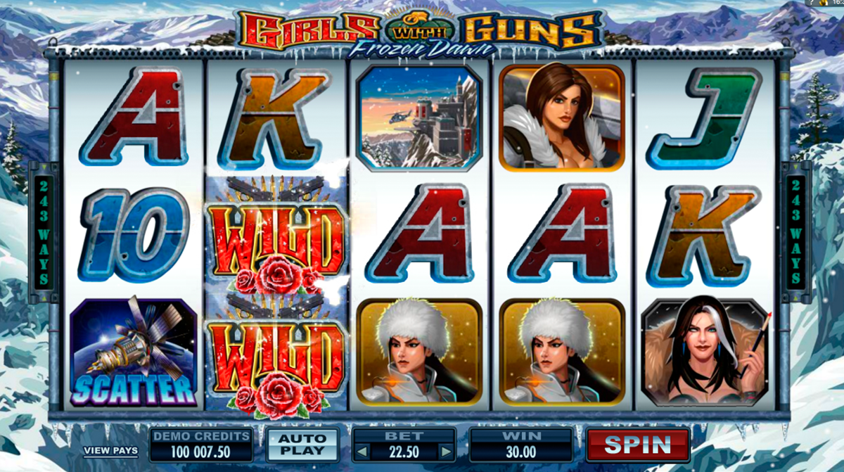 girls with guns frozen dawn microgaming online slots