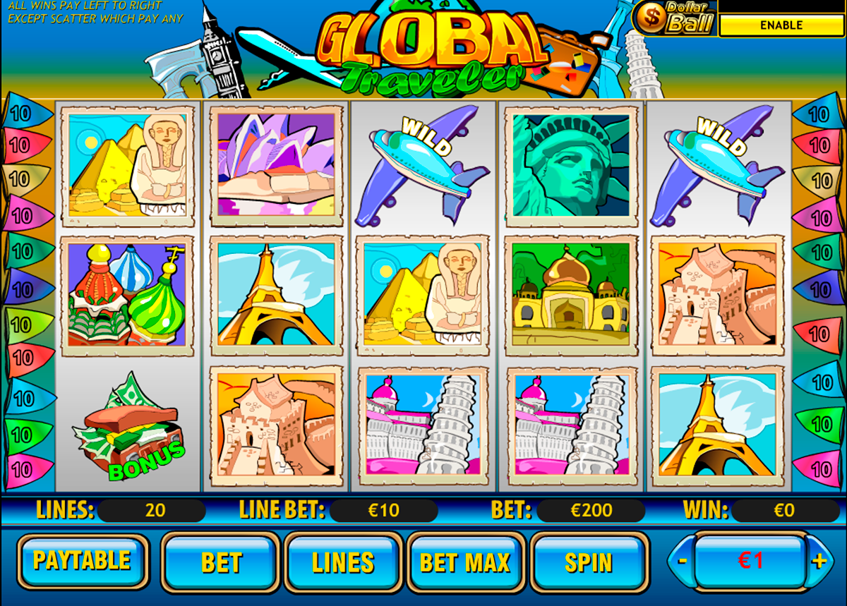 global traveler playtech online slots