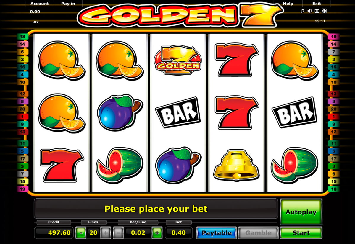 Spiele Golden 7 Fruits - Video Slots Online