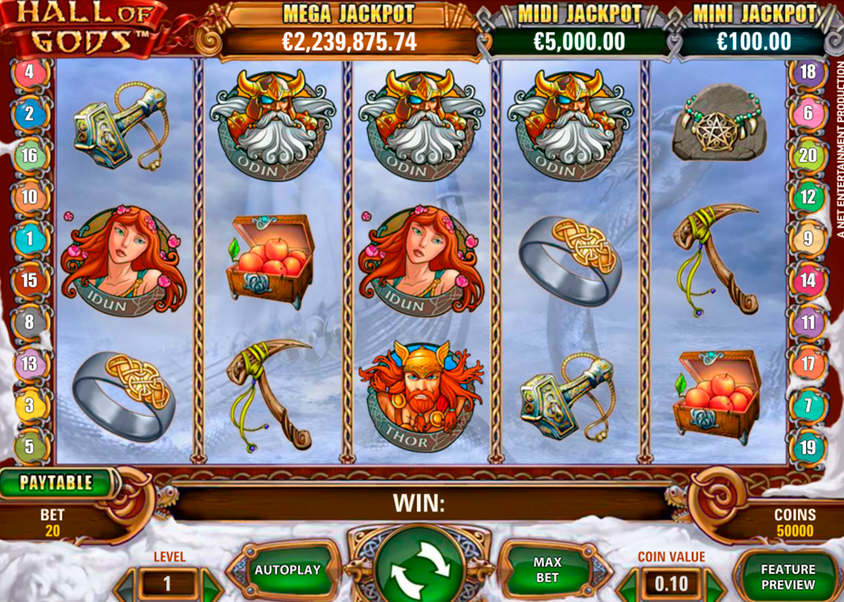hall of gods netent online slots