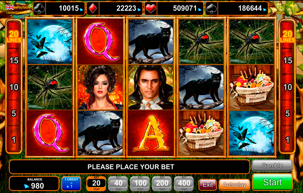 Halloween slot machine online