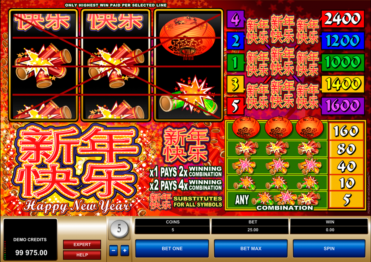 happy new year microgaming online slots