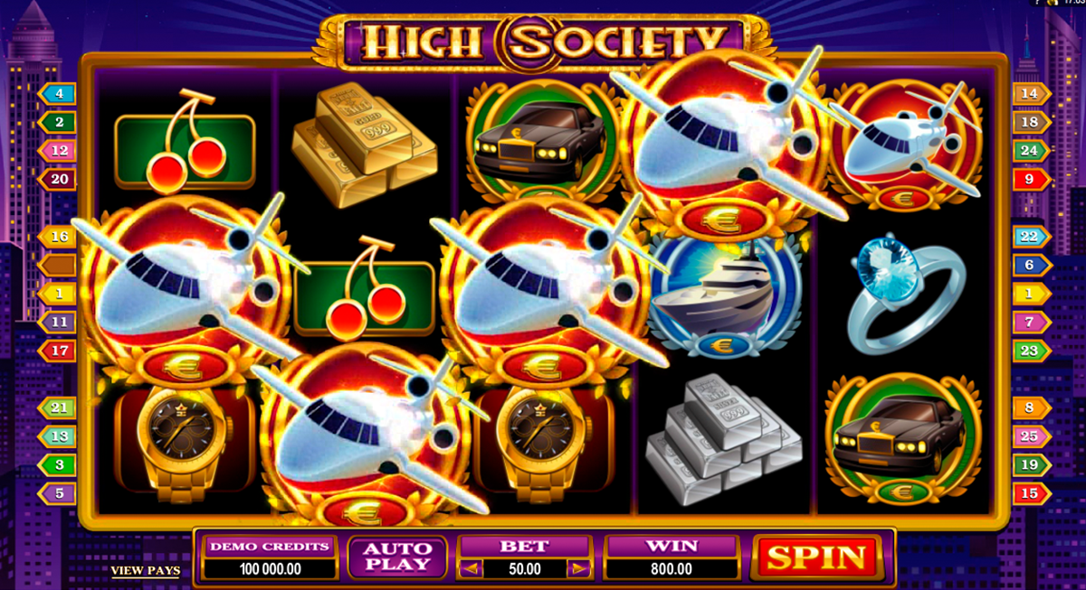 high society microgaming online slots