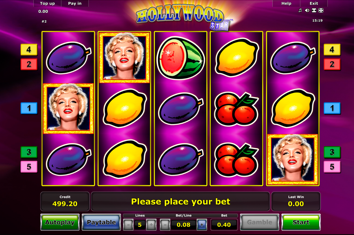 hollywood star novomatic online slots