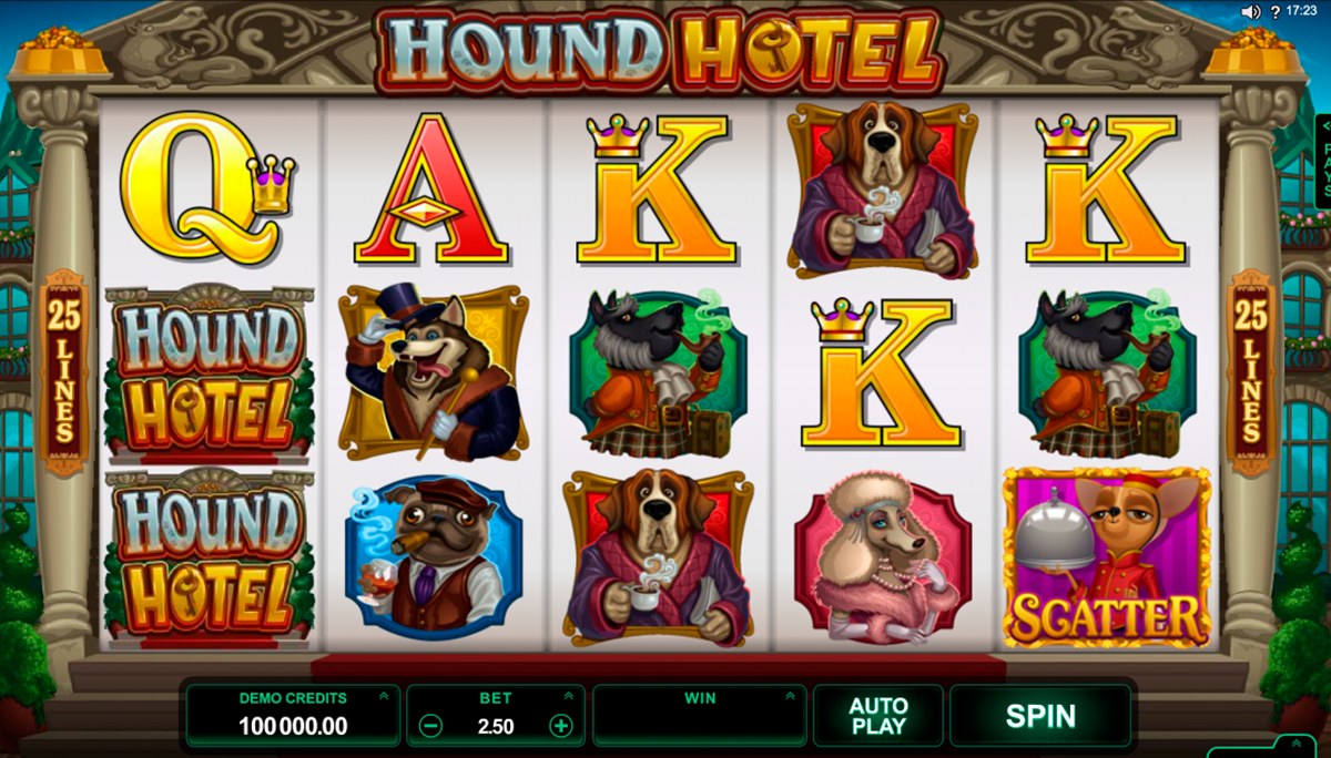 hound hotel microgaming online slots